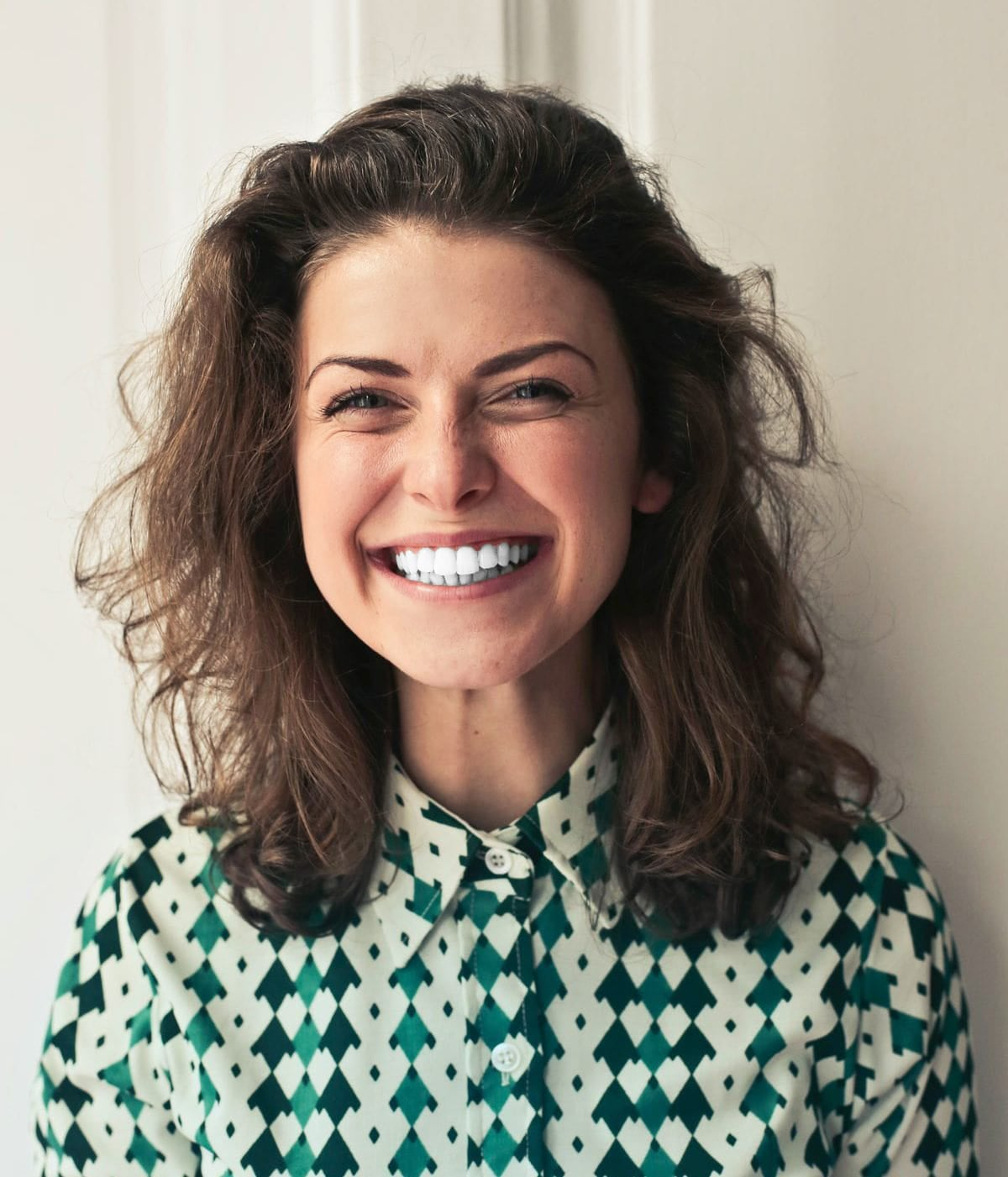 Female smiling with white teeth